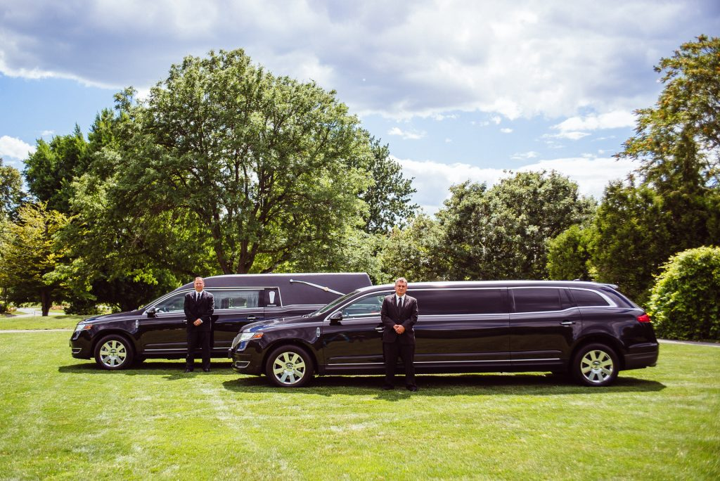 Funeral Hearse and Limo