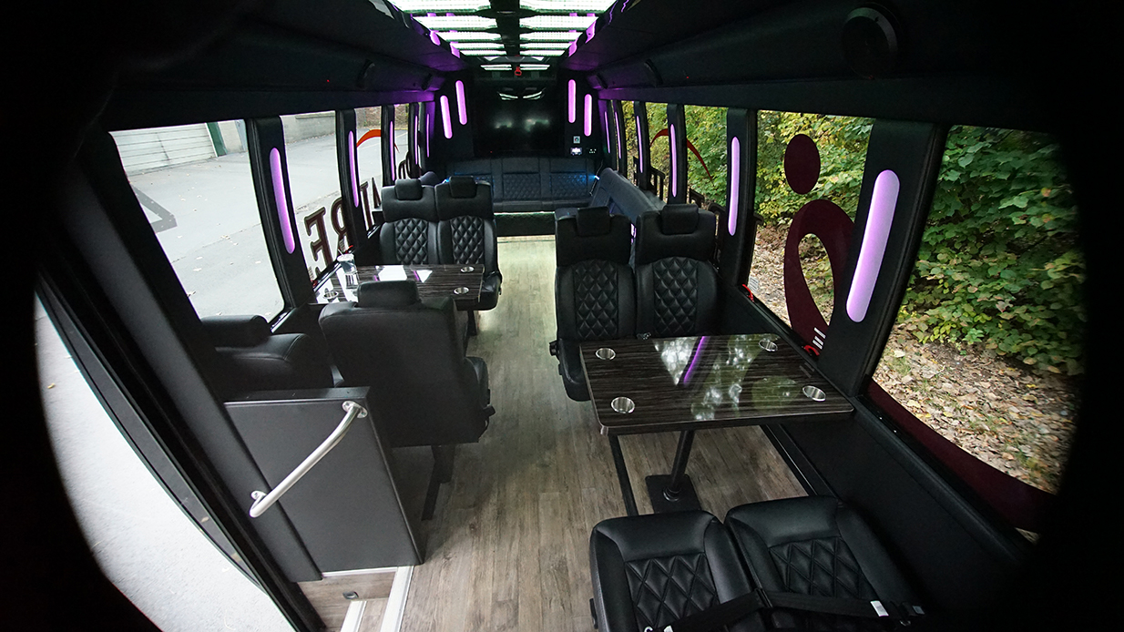 Luxury Party Bus interior