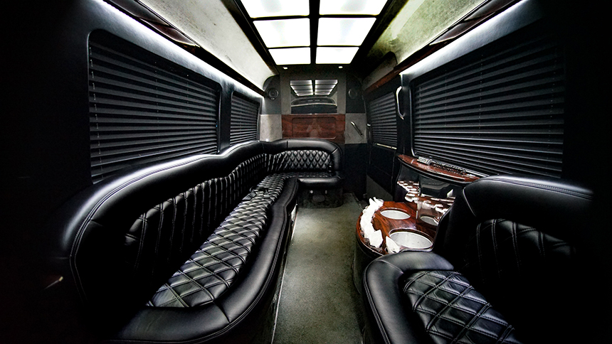 Interior of Limo Van