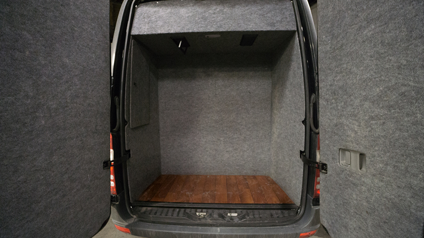 Trunk of Sprinter van